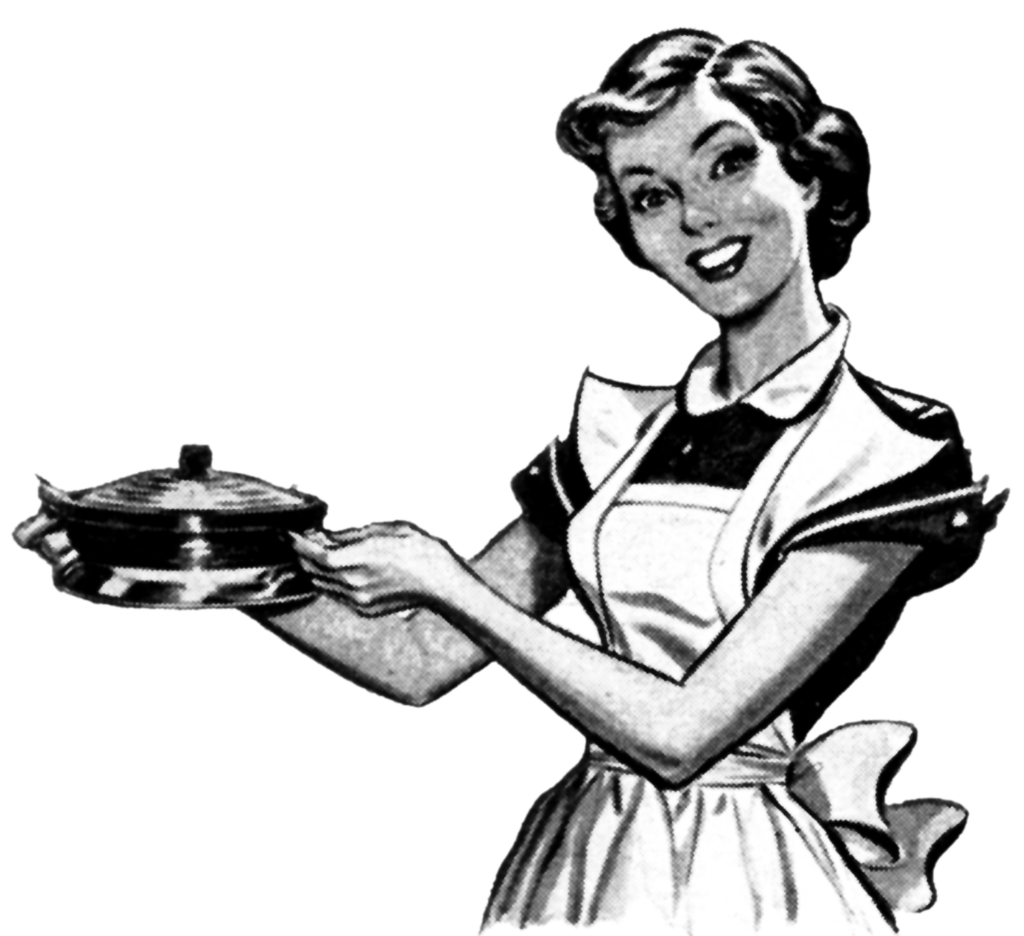 Retro Woman In Kitchen: For Those Who Don't Even Like